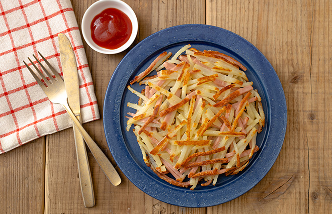 魚肉ソーセージと新じゃがいもで簡単ガレット ジョーさん。の春レシピ