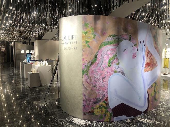 伊勢丹新宿店本館3階にオープンした「センシュアル・ライフ2」。イベントテーマを表現するビジュアルはKAORUKOさんが手掛けました。
