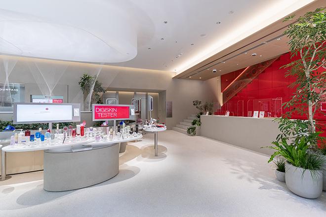 最新のテクノロジーとヒューマンタッチを融合させた美の体験ができる「SHISEIDO」の旗艦店