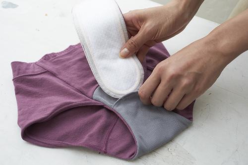 エコナップ®パッドをポケットに内蔵させて使用します