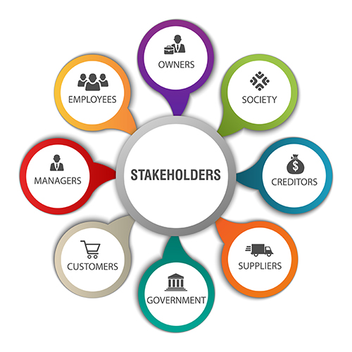 Vector,Infographics,Chart,Depicting,Various,Stakeholders,For,Organization,With,Symbols