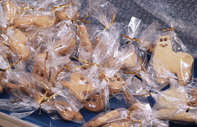 羽田さんお手製のクッキー