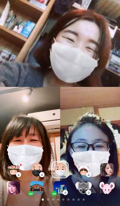 数あるフィルターの中で白マスクに統一(本人提供)
